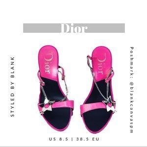 Dior Star Chain Strap Slingback Sandals RARE find!